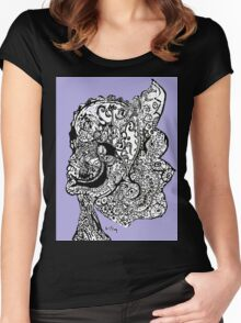 Abstract Sketch  Women's Fitted Scoop T-Shirt