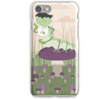 Inchworm eating up a mushroom iPhone Case/Skin