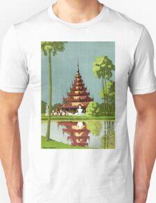Calcutta Vintage Travel Poster Restored Unisex T-Shirt