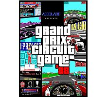Grand Prix Circuit Game - Formula 1 PC Game 88' Photographic Print