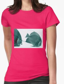 Grey Angelfish - Grand Cayman Womens Fitted T-Shirt