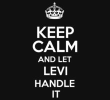 Keep calm and let Levi handle it! by RonaldSmith