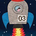 Rocket Greeting card by orangepeel