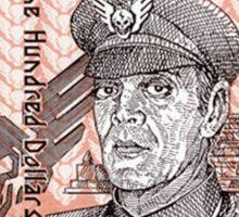 General M Bison Street Fighter the Movie Dollar Sticker