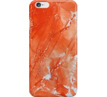 Watercolor Abstraction: Red String Gel iPhone Case/Skin