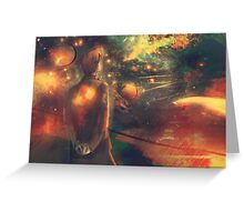 Through Crimson Stars and Silent Stars Greeting Card