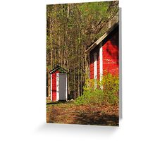 Community Hall Outhouse Greeting Card