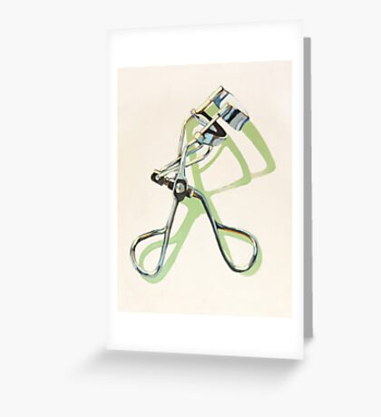 Eyelash Curler Greeting Card