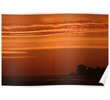 just yet another Rota flaming-sky sunset Poster