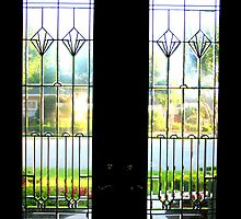 View Through the Glass French Doors by heatherfriedman