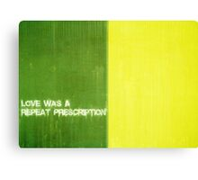Repeated Dependence Canvas Print