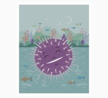 Urchin floating in the sea  Baby Tee