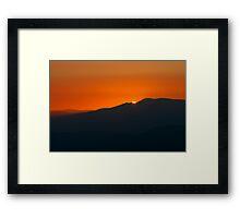 Sunrise Over Bogong Framed Print