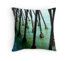 Marching Off To Sea Throw Pillow