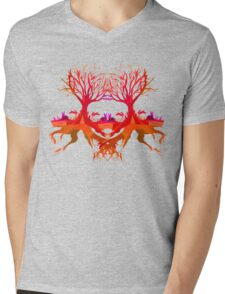 Summer Rabbit  Mens V-Neck T-Shirt