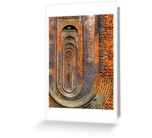 Balcombe Viaduct  Pierced Piers North - HDR Greeting Card