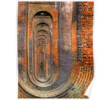 Balcombe Viaduct  Pierced Piers North - HDR Poster