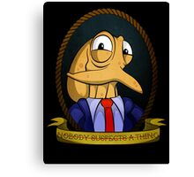 Octodad - Nobody Suspects a Thing - Tattoo Style Canvas Print