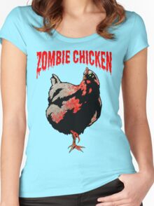 ZOMBIE CHICKEN Women's Fitted Scoop T-Shirt