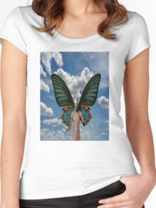 Devil in the sky Women's Fitted Scoop T-Shirt