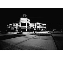 St-Martin Information Center Black and White Photographic Print