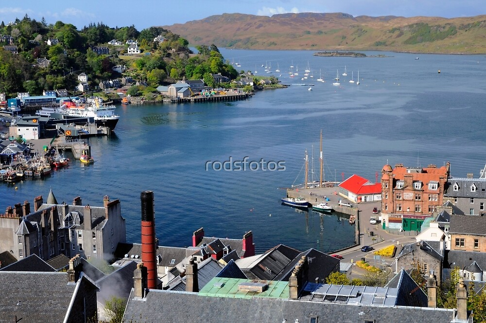 Oban Harbour, Scotland (from above) by rodsfotos