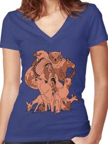 Rosemont. Women's Fitted V-Neck T-Shirt