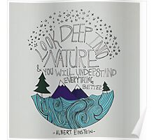 Einstein: Nature Poster