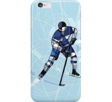 ICE HOCKEY PLAYER IN BLUE AND WHITE DRESS iPhone Case/Skin