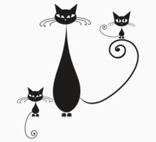 Black cats family by Kudryashka
