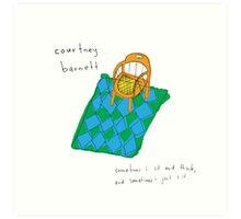 Courtney Barnett 'Sometimes' Album (w/ text) Art Print