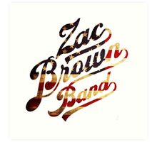 Zac Brown Band American Logo Art Print