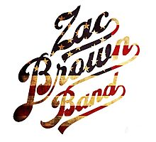 Zac Brown Band American Logo Photographic Print