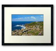 Lands End, Cornwall in May Framed Print