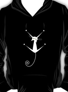 White cat silhouette T-Shirt