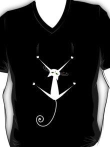 White cat silhouette T-Shirt
