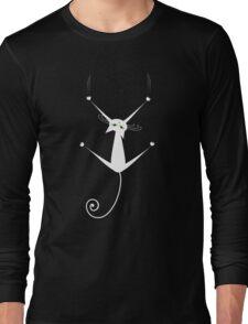 White cat silhouette Long Sleeve T-Shirt