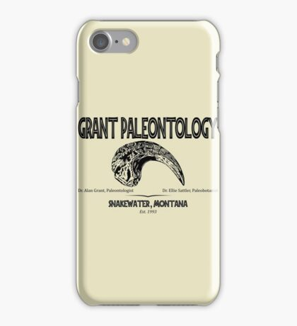 Grant Paleontology iPhone Case/Skin