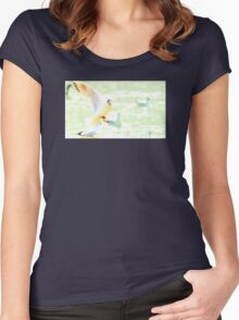 Faded in Flight  Women's Fitted Scoop T-Shirt