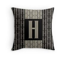 Metropolitan Park Deco 1920s Art  monogram letter initial H Throw Pillow