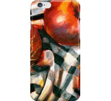 Black and White and Red Onions iPhone Case/Skin