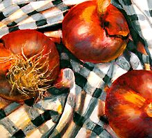 Black and White and Red Onions by ©Janis Zroback