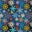multi-colored snowflakes by Tanor