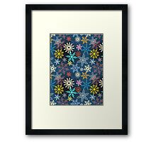 multi-colored snowflakes Framed Print