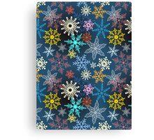 multi-colored snowflakes Canvas Print