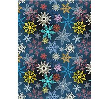 multi-colored snowflakes Photographic Print