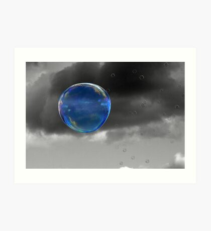 Blue Bubble Art Print