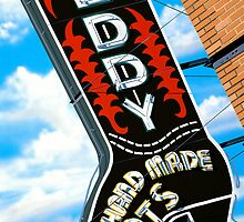 Leddy Boots Retro Neon Sign in Austin Texas by Anthony Ross
