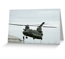 RAF Rescue team in action Greeting Card