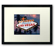 Fabulous Las Vegas Sign Night Version Retro Neon  Framed Print
